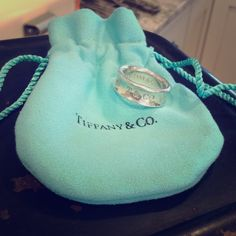💘TIFFANY & CO '1837' STERLING BAND💘 Beautiful Tiffany Band,and dated '1997' inside,is not new,and with very minor scratches but not very noticeable.It comes with its original little jewelry pouch.Unfortunately,I have to sell,as it's too small for me💕 Tiffany & Co. Jewelry Rings