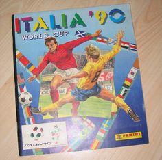 Panini World Cup Italy 90 1990 Sticker Book Album Full Complete Soccer Cards, Baseball Cards, Van Basten, Football Stickers, Vintage Football, Album Book, Fifa World Cup, Childhood Memories, Nostalgia