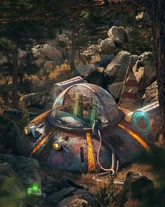 Pop Culture Dystopia by Filip Hodas - geek culture - Pop Culture Art, Geek Culture, Cultura Pop, Rick And Morty, Post Apocalyptic Art, Apocalypse Art, Digital Illustration, Game Art, Amazing Art