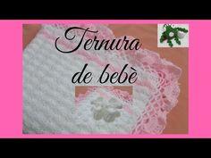 Manta para bebé con puntilla: Como ganchillar o tejer una manta para bebé en crochet - YouTube