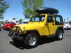 2000 Jeep Wrangler-Tj Sport SPORT SUV 2 Doors Yellow for sale in Golden, CO http://www.usedcarsgroup.com/used-2000-jeep-wranglertj-golden-co-1j4fa49s4yp789981