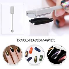 Ellwings 1pcs Strong Magnet Manicure Tool for 3D Cat Eye Gel Nail Polish Special Magnetic Double. Click visit to buy #Nail #Polish #NailPolish
