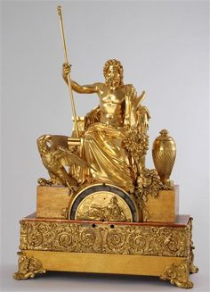 Ornate table clock, France, ca. 1835