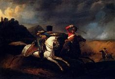 Two Soldiers on Horseback - Horace Vernet