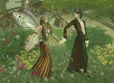 Captured Inside IMVU. Showing items Imvu made for Fairy Queen Titania and Elven King Oberon, for IMVU catalog