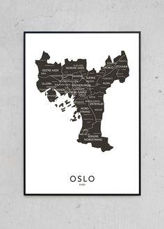 Oslo kontur - svart