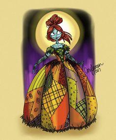 †◈♬♛ Sally, the Pumpkin Queen! Nightmare Before Christmas Characters, Nightmare Before Christmas Tattoo, Coraline, Sally Skellington, Tim Burton Characters, Disney Characters, Tim Burton Art, Twisted Disney, Jack And Sally
