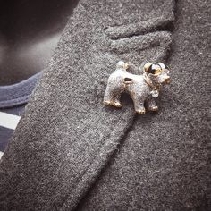 You will fall in love with this Puppy Dog Brooch  #craft365.com