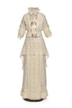 Embroidered and Crocheted Lace Jacket and Skirt, ca. 1910-12 via...