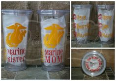 Marine Corps Wife/Mom/Sister Tumbler other by HandCraftedHC, $14.50