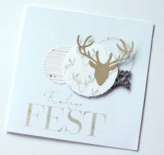Pusteblume Mehr Modern Christmas Cards, Christmas Card Crafts, Christmas Paper, Xmas Cards, Handmade Christmas, Holiday Cards, Winter Cards, Card Tags, Cardmaking