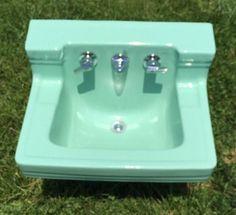 Vintage 50 S Jadeite Mint Green Bathroom Bathtub Sink