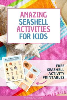 These seashell activities for kids are so fun and educating. This article also has 2 free seashell activity printables for kids. Beach Activities, Activities For Kids, Family Organizer, Kids And Parenting, Parenting Hacks, Kids Education, Kids Learning, Sea Shells, Free Printables