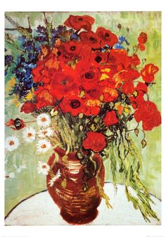 Vase with Daisies and Poppies, Vincent Van Gogh
