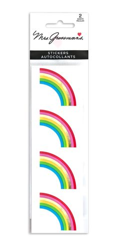 Whimsical Rainbow Slim XL Drawstring Reusable Gift Storage Bag