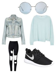 """""""Untitled #2"""" by kenan-huskic ❤ liked on Polyvore featuring J Brand, NIKE, women's clothing, women, female, woman, misses and juniors"""