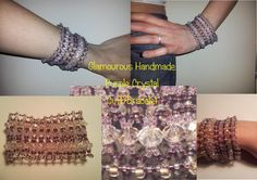 SALE Glamorous Handmade Purple Crystal Cuff Bracelet by BeadBoutiquebyLou, £10.00