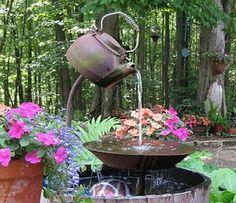 Nice Tea Pot Fountain Easy DIY Perfect For Your Garden