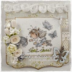 Card by LLC DT Member Becky Hetherington, using papers from Pion Design's A Day in May collection and a LOTV image.