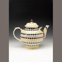 Emma Bridgewater 'Polka Dot' a Gallon Tea Pot, sponge decorated by Lynsey Locker, 2007 Pottery Cafe, Emma Bridgewater Pottery, English Pottery, Love You Dad, Furniture Decor, Lockers, Tea Pots, Polka Dots, Auction