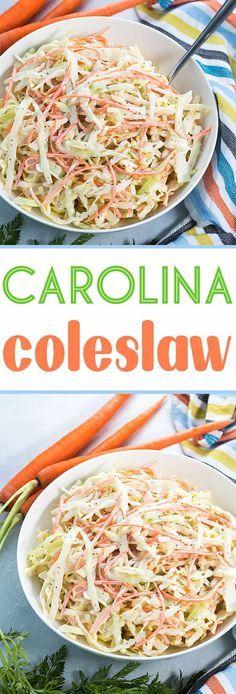 Carolina Coleslaw Recipe | The Blond Cook Carolina Coleslaw Recipe, Tangy Coleslaw Recipe, Coleslaw Salad, Creamy Coleslaw, Coleslaw Recipes, Homemade Coleslaw, Vegetarian Recipes, Cooking Recipes, Zone Recipes