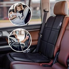 Car Seat Protector  For Baby and Infant Safety Carseat as Kick Mat  Covers your Expensive Leather Seats with Thick Pad  Waterproof and Dirt Resistant  For SUV Sedan Truck and all Auto * For more information, visit image link.-It is an affiliate link to Amazon. #BabyCarSeat