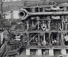 Titanic Triple Expansion Marine Steam Engine 1912 Rotogravure Antique Machine Rotogravure