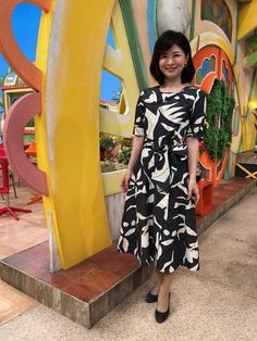 松井愛|今週の衣装|せやねん!|MBS毎日放送 Wrap Dress, Dresses, Fashion, Vestidos, Moda, Fashion Styles, Wrap Around Dress, The Dress, Fasion