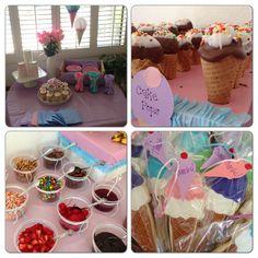 Ice cream sundae theme birthday party