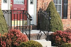Rod Iron Railing For Outside Steps Google Search Home