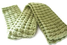 Crochet Scarf Crochet Green Scarf by pigswife on Etsy, $29.00