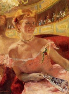 Woman in a Loge - (also known as Woman with a Pearl Necklace in a Loge) Mary Cassatt - 1879