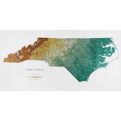 North Carolina Wall Map