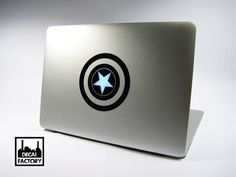 Cool Captain America Shield Macbook Laptop Vinyl Sticker Decal Apple Air Pro Dell HP IBM Acer on Etsy, $5.57