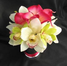 lily centerpieces for weddings | Centerpiece Natural Touch Calla Lily Orchid [CNPSmLrOrchCalla] - $39 ...