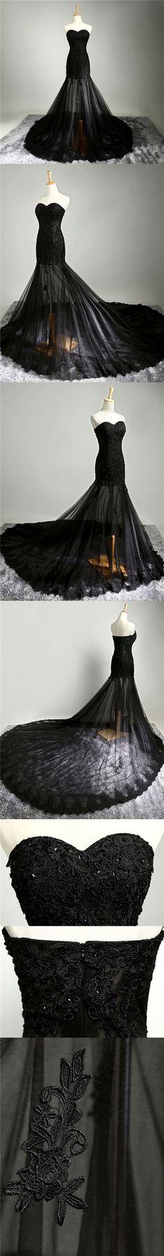 Black Sexy Prom Dresses Sweetheart Sheath/Column Prom Dress/Evening Dress JKL048