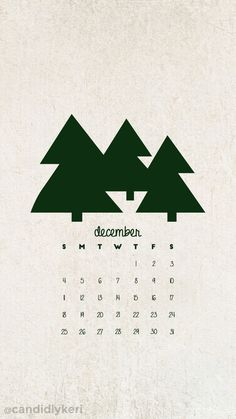 Christmas tree green December calendar 2016 wallpaper you can download for free on the blog! For any device; mobile, desktop, iphone, android!