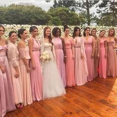 madrinhas de rosa casamento marina ruy barbosa