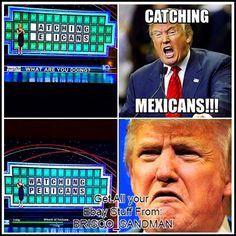 "$4.5 - Fridge Fun Refrigerator Magnet Donald Trump Wheel Of Fortune ""Mexicans"" Meme #ebay #Collectibles"
