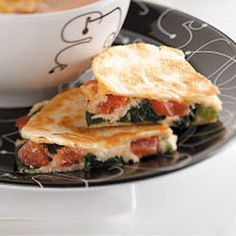 Spinach Quesadillas Recipe from Pam Kaiser in Mansfield, Missouri — from Healthy Cooking magazine