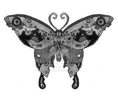 Steampunk Butterfly by ~Sol-Lepus on deviantART