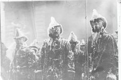 Firefighters covered in ice.The Equitable Building Fire, New York City January 9, 1912