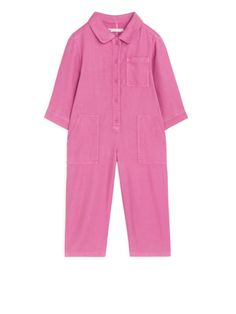 Shop ARKET new arrivals for girls, boys, babies and newborns. Pink Trousers, Boiler Suit, Lower Case Letters, Lowercase A, Types Of Wood, Kind Mode, Biodegradable Products, Work Wear, Duster Coat