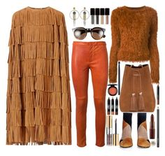 """Fun with Fringe and Furry Stuff"" by fassionista ❤ liked on Polyvore featuring Burberry, Versace, Isabel Marant, Tom Ford, Kenzo, Gianvito Rossi, Yves Saint Laurent, NARS Cosmetics, Kevyn Aucoin and MAC Cosmetics"