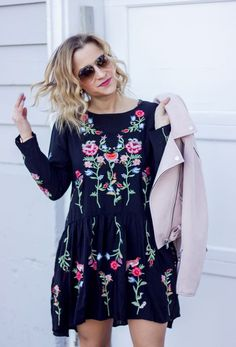 Canadian fashion and lifestyle blogger, Jackie of Something About That is wearing a floral dress from Chicwish for spring