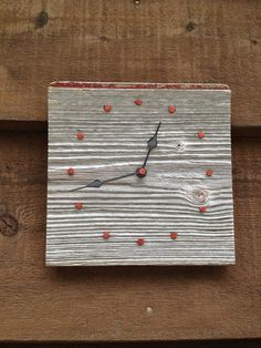 Small Barnwood Wall Clock by little1created on Etsy