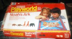 Vintage Noah's Ark board game published by Waddingtons Playworld. Games For Kids, Games To Play, Bored Games, Vintage Board Games, Ark, Dice Games, Wooden Animals, Gaming Computer, Childhood Memories