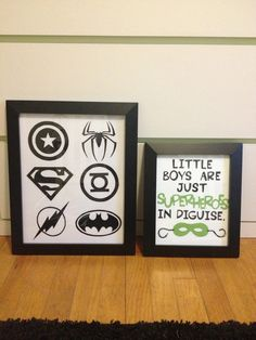 Superhero nursery decor for little boy