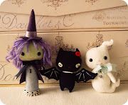 halloween in felt  cute witch, bat and ghost!