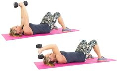 17 Free Weight Exercises for Toned Arms – Fitness Tati Arm Workouts At Home, At Home Workout Plan, Body Training, Weight Training, Arm Flab, Fitness Workout For Women, Toned Arms, Dumbbell Workout, Pilates Workout